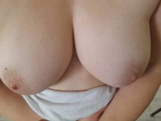My wife's big sexy tits.