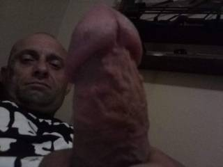 Thought I take one before jerking my hard cock off.