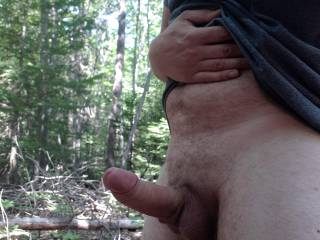 Feeling horny out in the woods