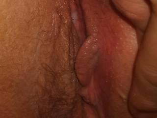 close up of her cum filled cunt