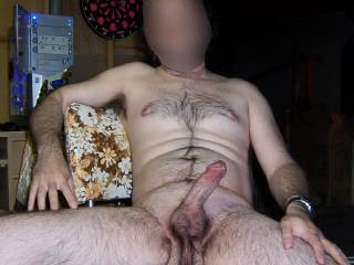 personally i'd love to service it for ya!! nothing like very hairy balls and a thick shaft!!!  love to suck it all over,ok!!