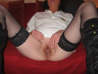 Nice want to finger her awesome hairy pussy
