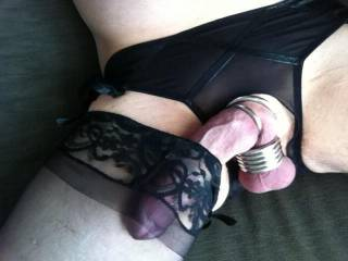 Fabulous photo. I would love to add my cock in your stocking top.