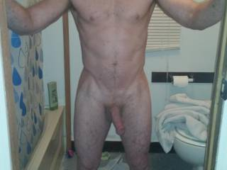About to take a shower and then get a good cock sucking