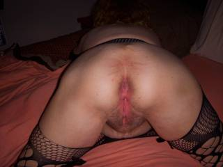 fresh fucked asshole and pussy