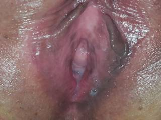 How was my wife's pussy after a good creampie