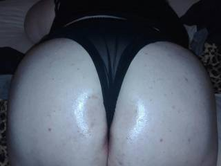 My girlfriends big,sexy ass.i love hearing her gasp when I pull her panties up between her cheeks