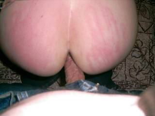 mmm love the hand prints and looks like a delicious arse fuck! would Mrs like another cock in her cunt at same time as you fuck her arse? you two are VERY sexy people!
