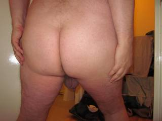 My bare ass on show to my friends at a nudist party