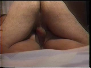 Made a bet with a friend that I could fuck my hot wife\'s ass and then take a picture of the cum oozing out before he could do it to his wife...I won!