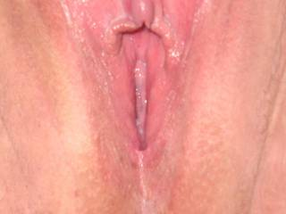 Who made your clit so hard and your lips so wet? My friend is very hard also and I have a lot of precum under my foreskin when I look at your great pic. I´d like to taste your lovejuice!
