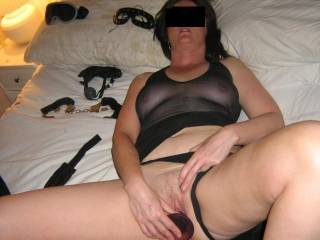 Love to fuck that slut wife of yours after tieing her up and fucking her ass Then make her suck my cock hard again for more fucking! Love to hear from you both!