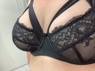 What do you think of my new lingerie? The lace feels so nice against my sensitive nipples...