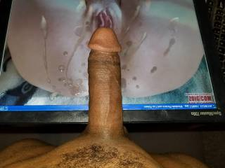 BBC cum tribute for ahalisa. That pussy looks so perfect. I couldn\'t hold back. So many hot blasts of cum....