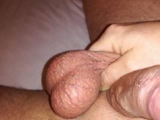 Look my balls full?