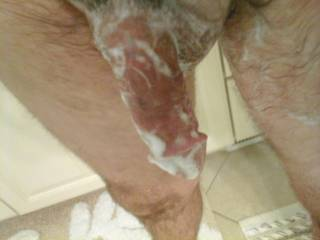 Soapy dick, starting another day. Would you help wash me?