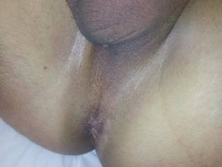 Showing my cute hole