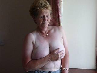 Tell her to move those hands off of those nice large titties. I have a nice chocolate tool that I would fuck them real good will. Those big tits of hers would be covered in warm sperm when I was finished. Does she need that pussy fucked also? Tell her to slide those jeans off.  John   Do you see what friends say?