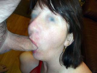 I would love to feel her hot mouth around my cock