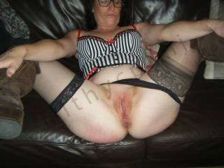 You wouldn't have to wait long for me to slide my cock in and fuck your juicy wet pussy