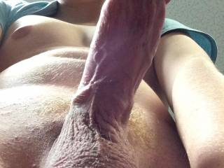 Nice dick and I love the hairy balls.