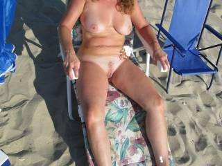 Very nice body. Glad you like showing off in public. Not enough nude beaches around. I hate wearing clothes myself.