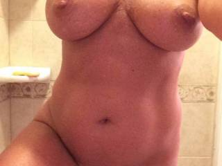Gorgeous breasts big and quite firm, superb areola round those nipples I'd love to suck. Sweet pussy I'd love to lick and give her an intense orgasm to make her squirm with ecstacy