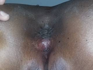 My wife here little asshole, ready to get strechted up by some big cocks and filled with some cum! ,showing her the little slut she is a really is