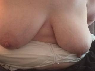 Long nipples on big tits; who doesn\'t love that.