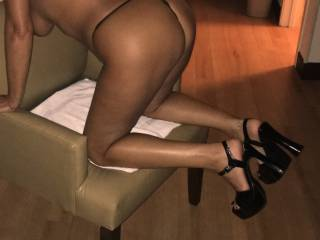 Bent over ready and waiting to be fucked