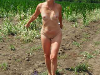 Naked walk in the field ... I just wanted to have sex outdoors.