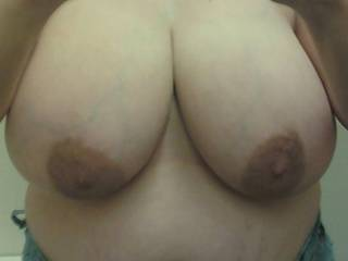 Wife's big beautiful tits!