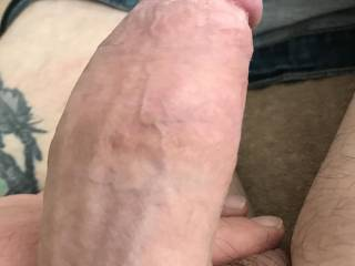 Half hard cock waiting to be sucked. Any ladies want to join Kiki sucking my cock?