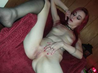 Me and my girlfriend was playing around with one other and then her old came and put his huge cock in my face so I did what I could think of I suck the shit out of if as she eat my pussy his boy started fucking her from the back then the other two join in