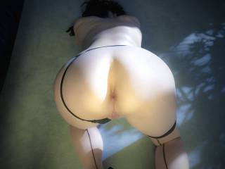 just putting her ass way up to get a good view of her anus so it could be rimmed and fucked