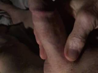 Got a text asking me  to stroke my cock so she could watch.