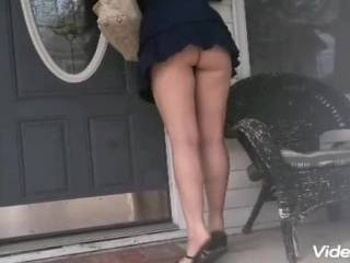 Just showing off my ass in public. My husband loves when I do this. Do you guys and girls love it to.