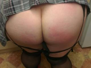 She\'s a very naughty schoolgirl, you can still see the marks from where I had to spank her :)