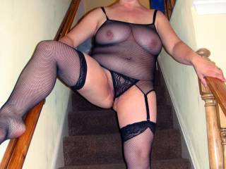 very sexy. drag me up those stairs by my balls & empty em on those gorgeous tits xx