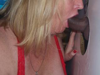 Its hot enough when that cock first starts to emerge from the hole but when its s BBC it just can't get any hotter.