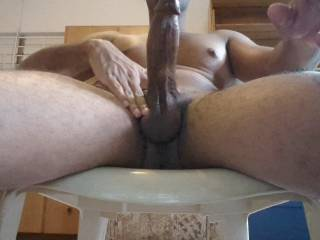 Not gay or bi, but holy cow that's a big dick! I'd be honoured to watch you fuck a chick while she blows me! My dick is also beautiful!!!
