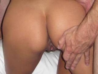 this is so hotid love to be bent over next to you, your husband looks sooo good too