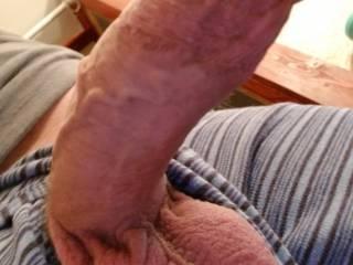 My dick out kinda hard really hprny