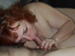 Jewish mature woman sucks my cock!