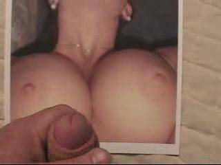 Couldn\'t resist the invitation to blow a load all over her gorgeous tits, she\'s beautiful