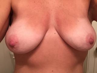 oh to have your lustful tits swinging wildly over me as you use my cock for all it's worth.