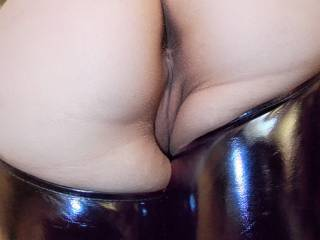 I'd make you spread your cheeks, use both your hands, reach around behind you, with your back arched and ass up! I'd spank your ass cheeks with my left hand but use my hard cock to spank your wet inner lips back and forth and up and down, teasing your clit from behind until your juices cover my dick and are running down your thighs.