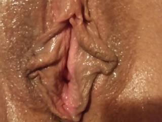 Just finished making my wifes tight pussy squirt