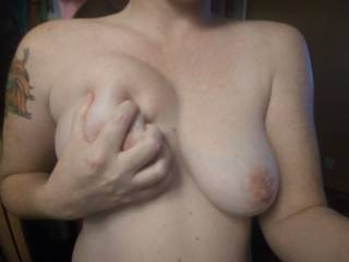 Princess playing with her titties