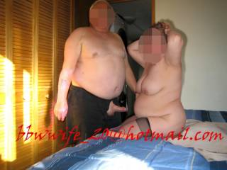 getting ready for hot night with her favorite chubby friend to us